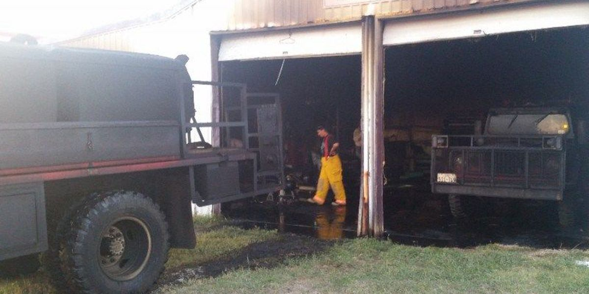 Fire department cleans up after fire