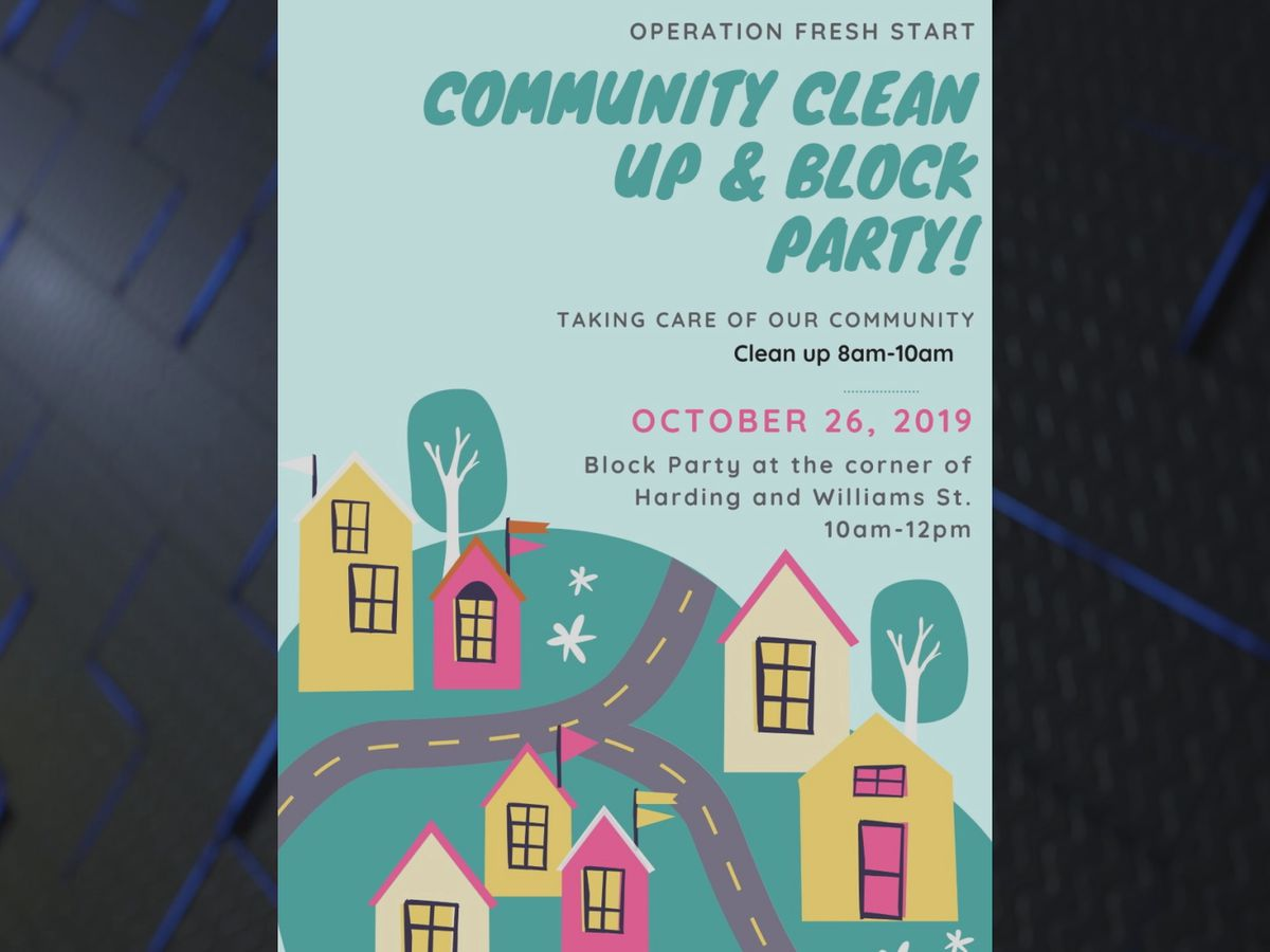 Community cleanup and block party