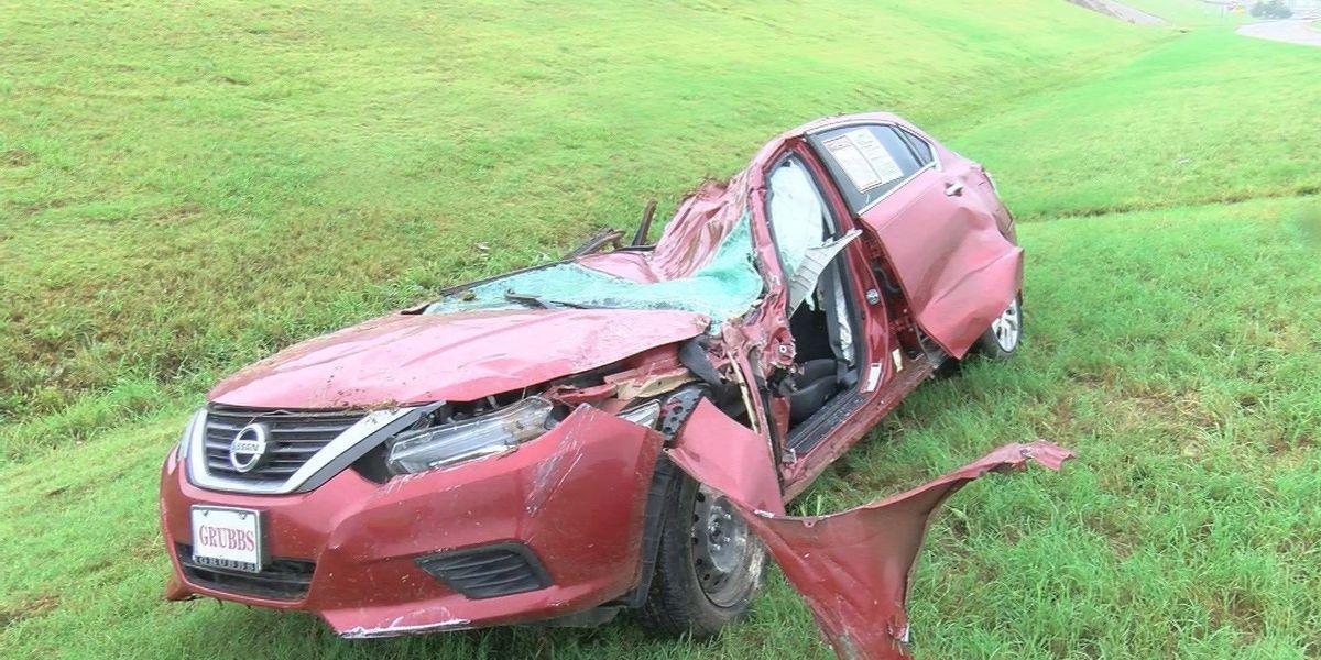 Single car crash sends man to hospital