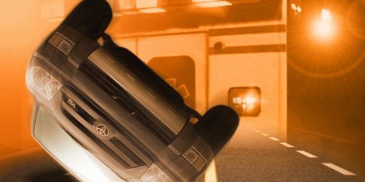 Rollover Accident Sends One To The Hospital