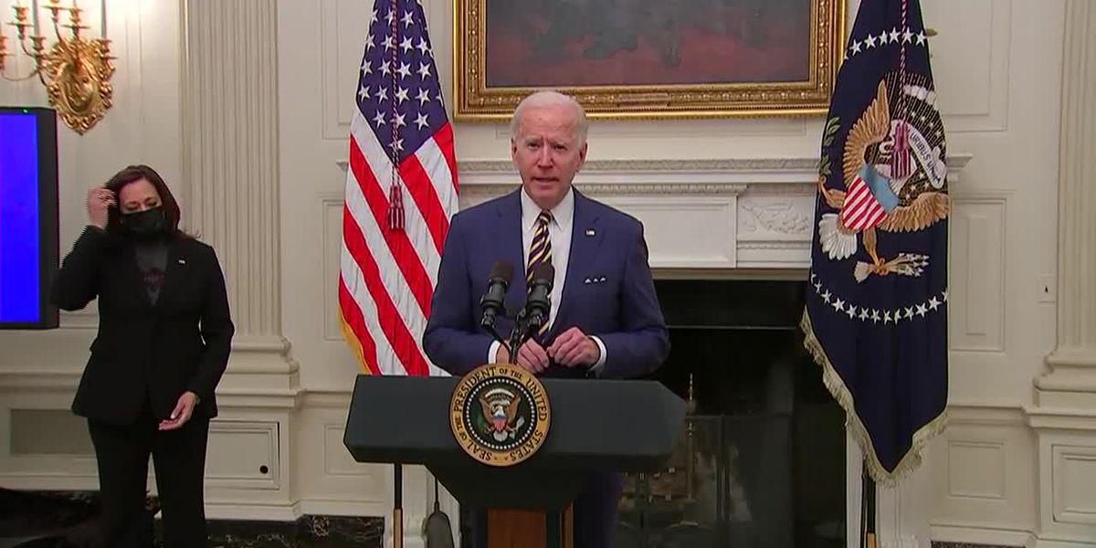 LIVE: Amid stimulus talks, Biden signs order to help factories