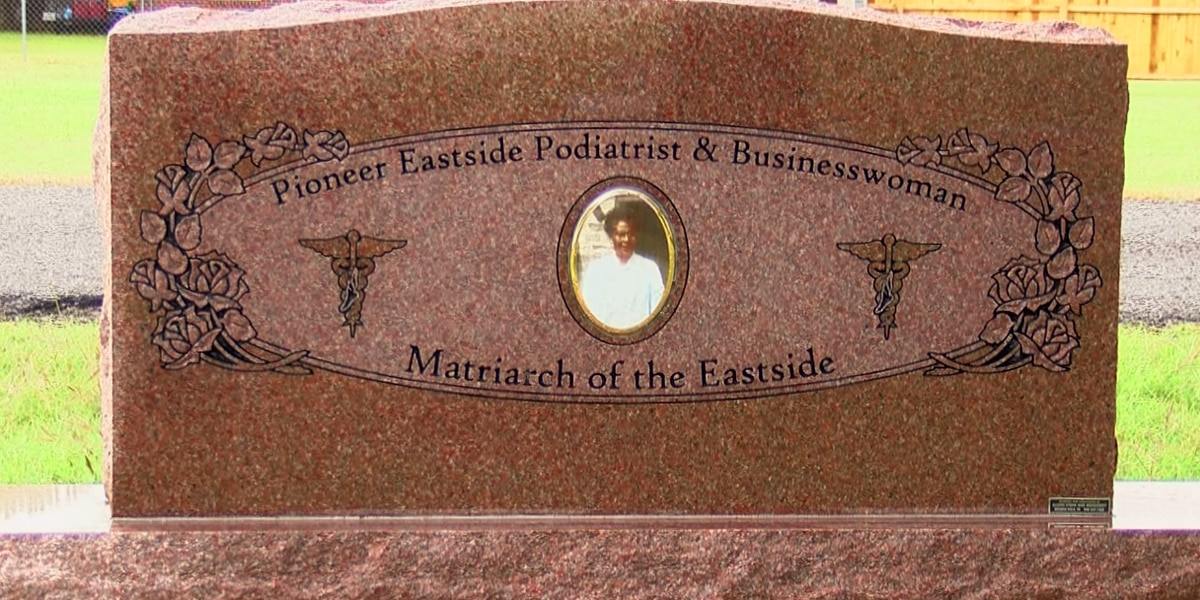 Matriarch of Eastside honored with headstone