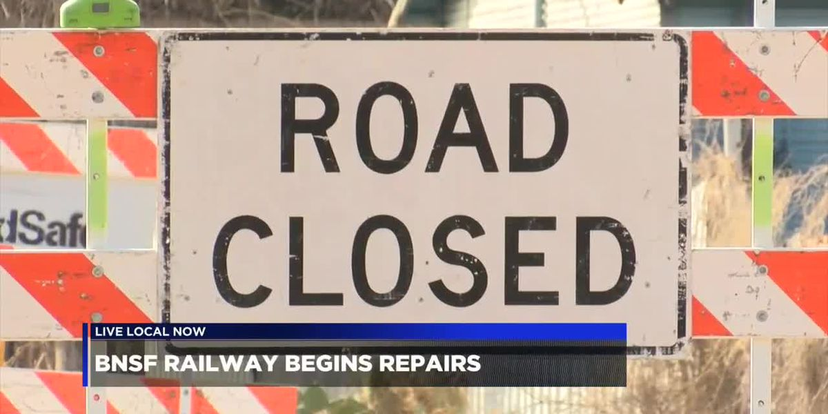 North Broadway and Vermont streets railroad crossings closed for repairs