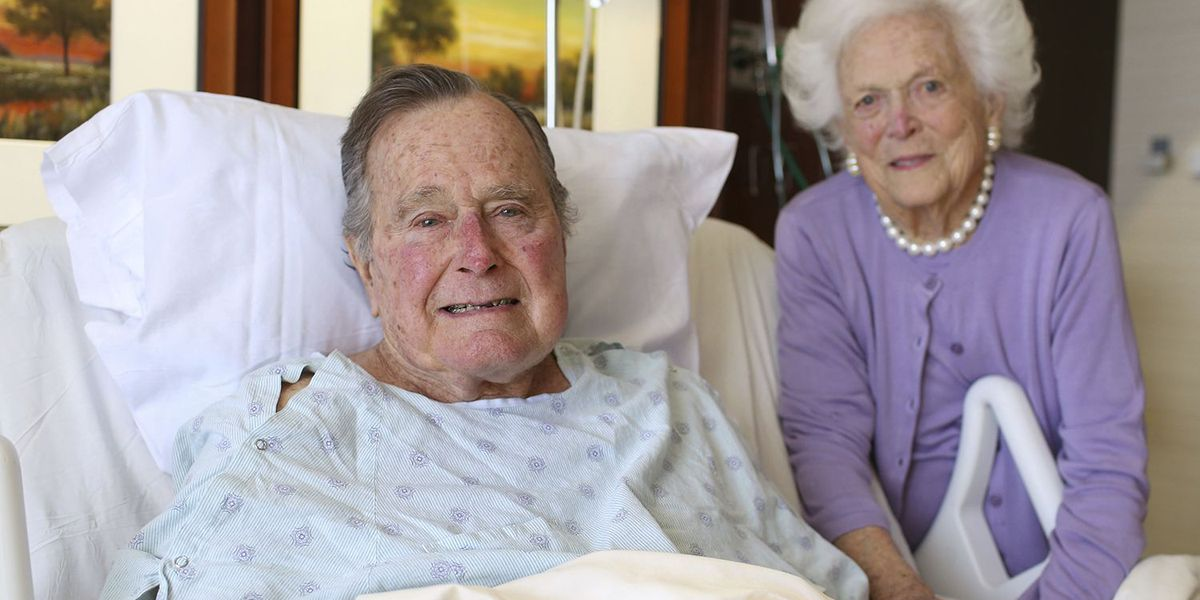 Bush recovering from pneumonia, could see weekend release