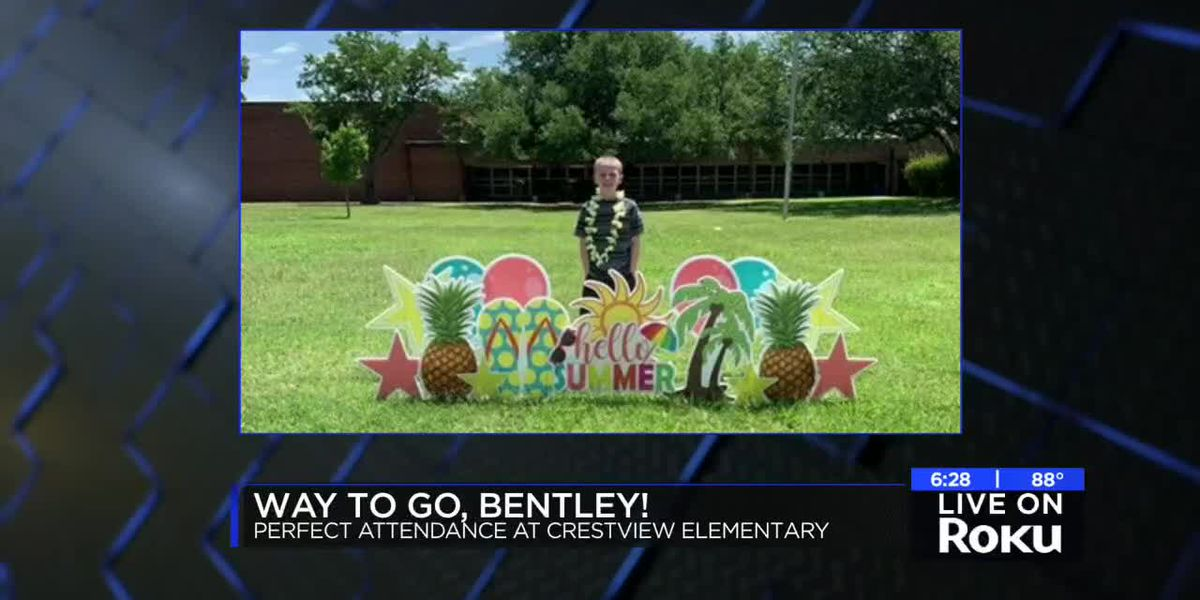 Crestview Elementary student celebrated for perfect attendance
