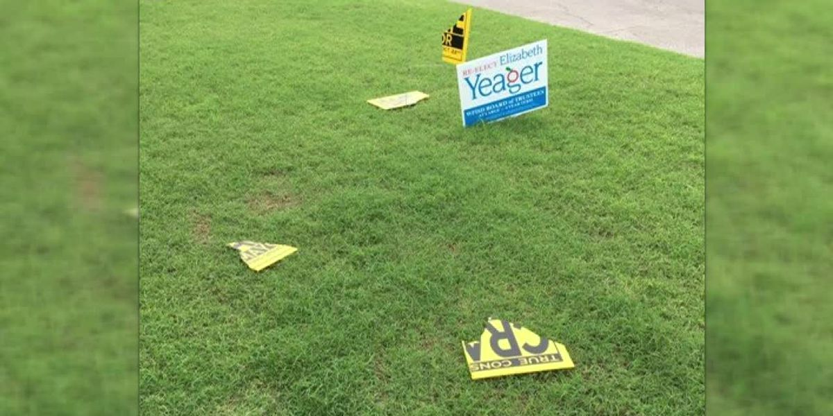 WF Mayoral candidate's campaign signs vandalized