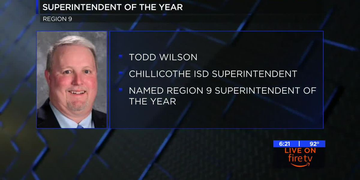 Region 9 names superintendent of the year