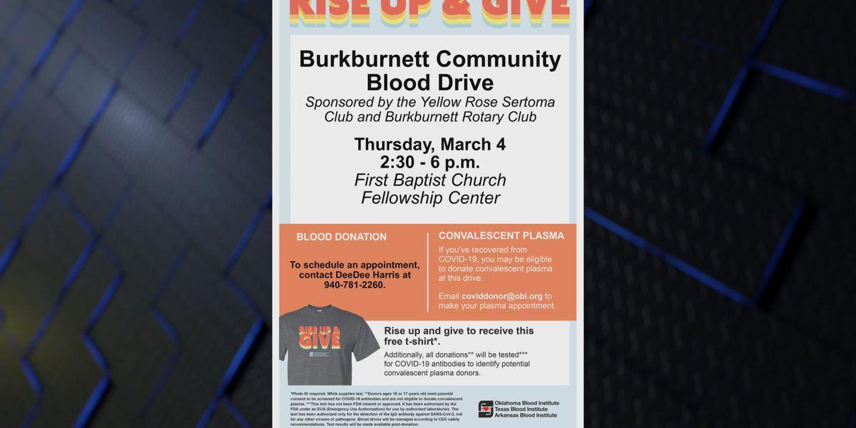 Burkburnett Rotary Club hosting blood drive Thursday