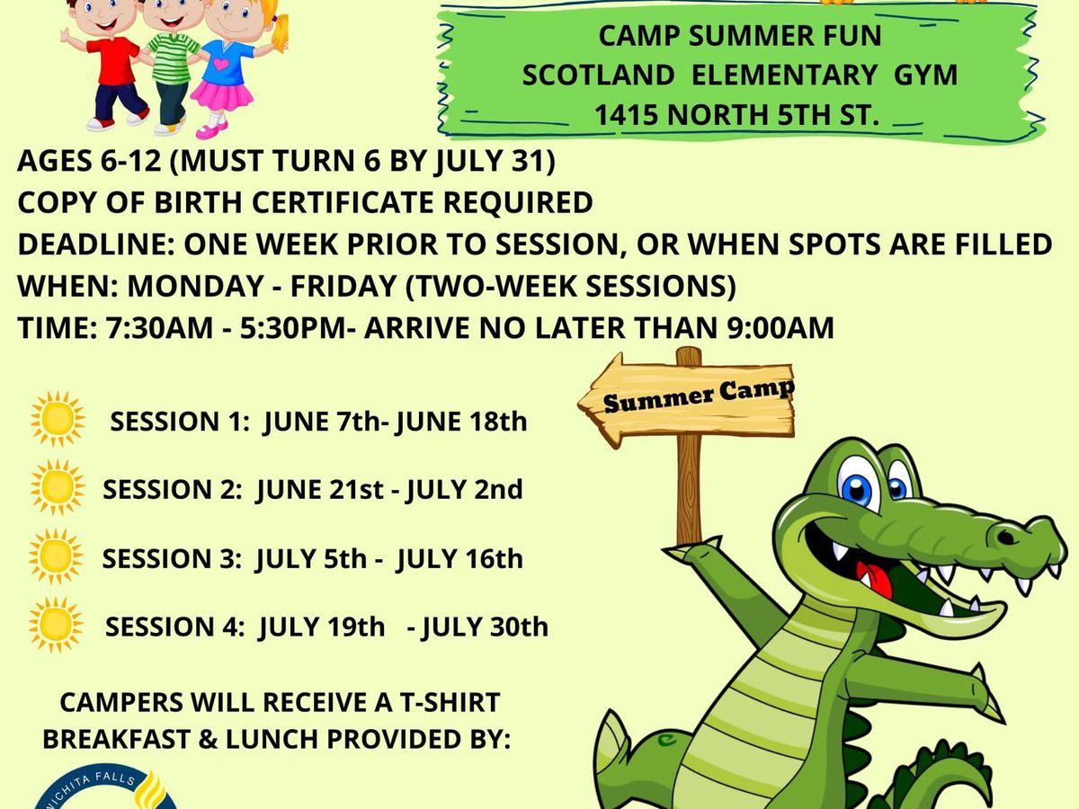 Wichita Falls summer camps approaching fast