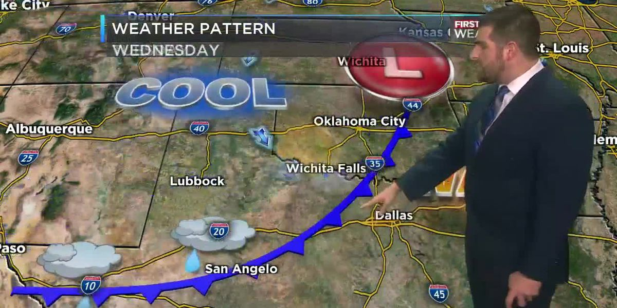 A cold front will come through Wednesday morning