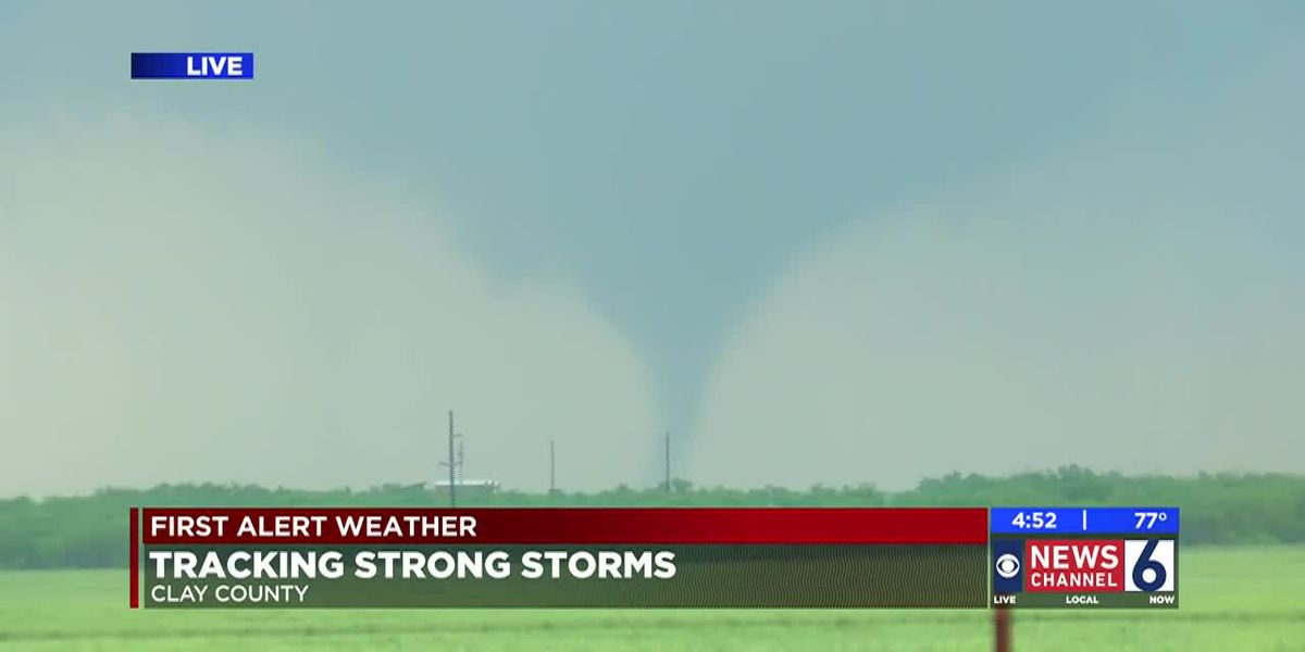 Clay County tornado captured live
