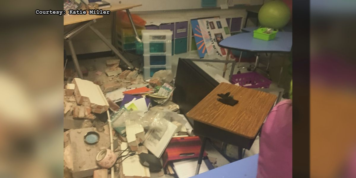 Teacher raising money to resupply classroom after car crashed into it