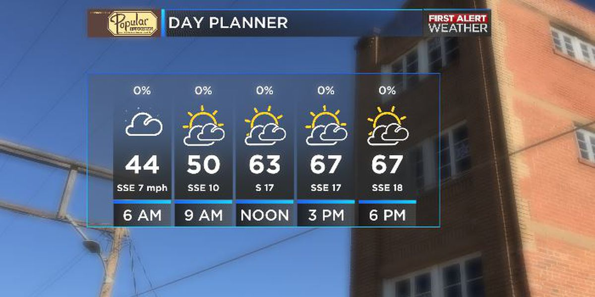 Sunny and windy this weekend