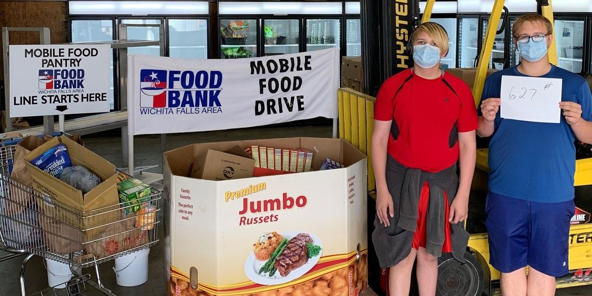 WF Boy Scouts donate over 600 pounds of food to WF Area Food Bank