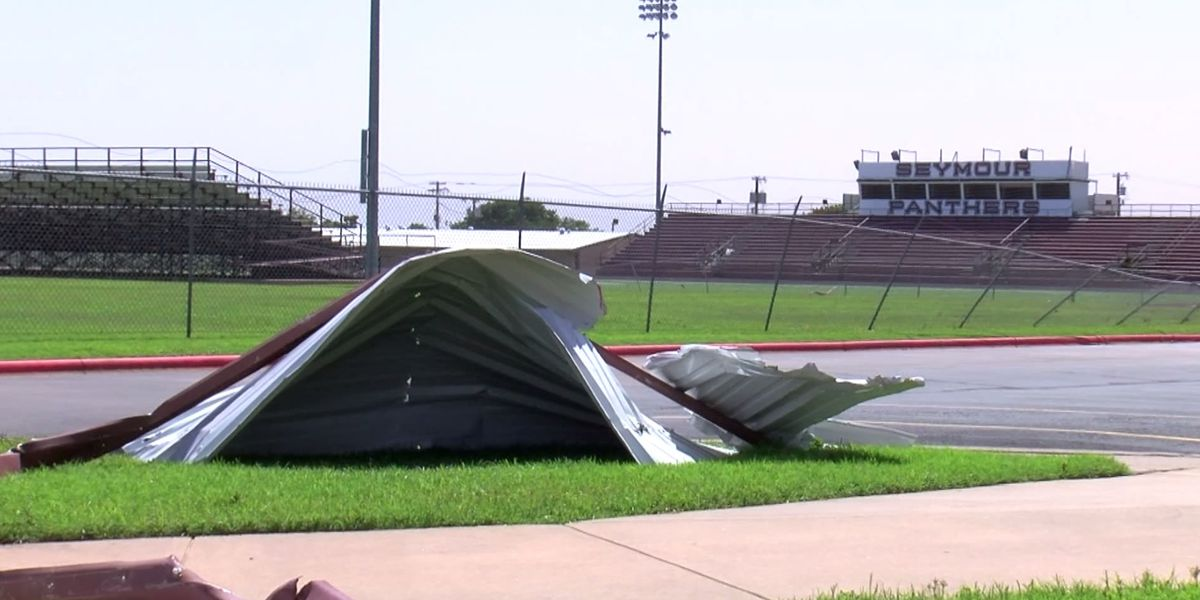 Seymour football stadium damaged by storms