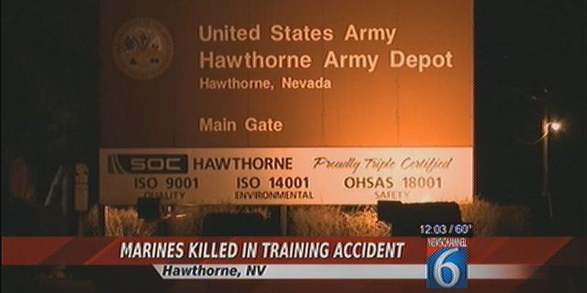 Marines Killed in Training Accident