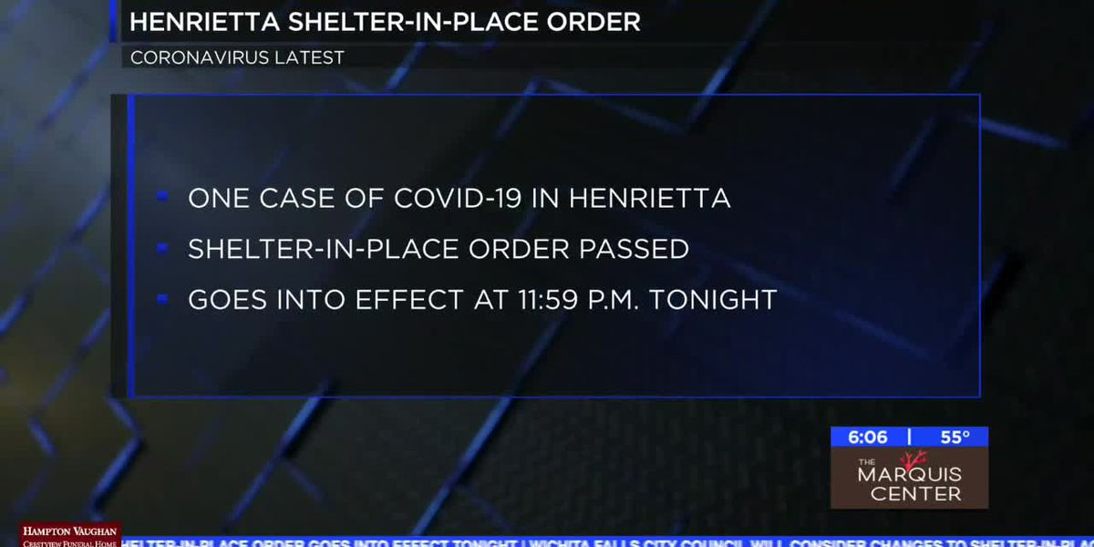 City of Henrietta issues shelter-in-place order