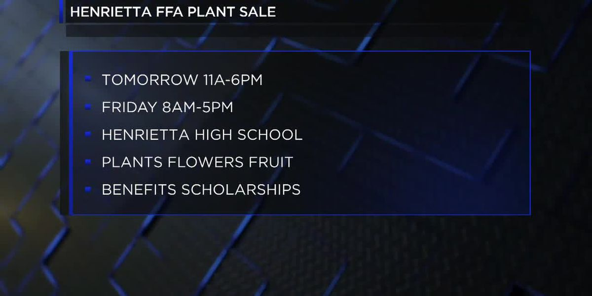Henrietta FFA annual plant sale starting Thursday