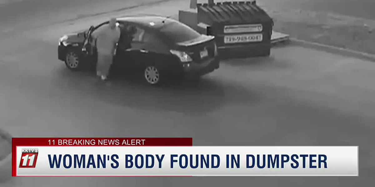 Video shows man throw body in a dumpster
