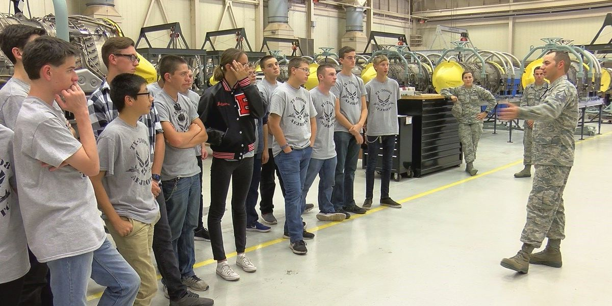 Texoma JROTC students learn STEM at SAFB