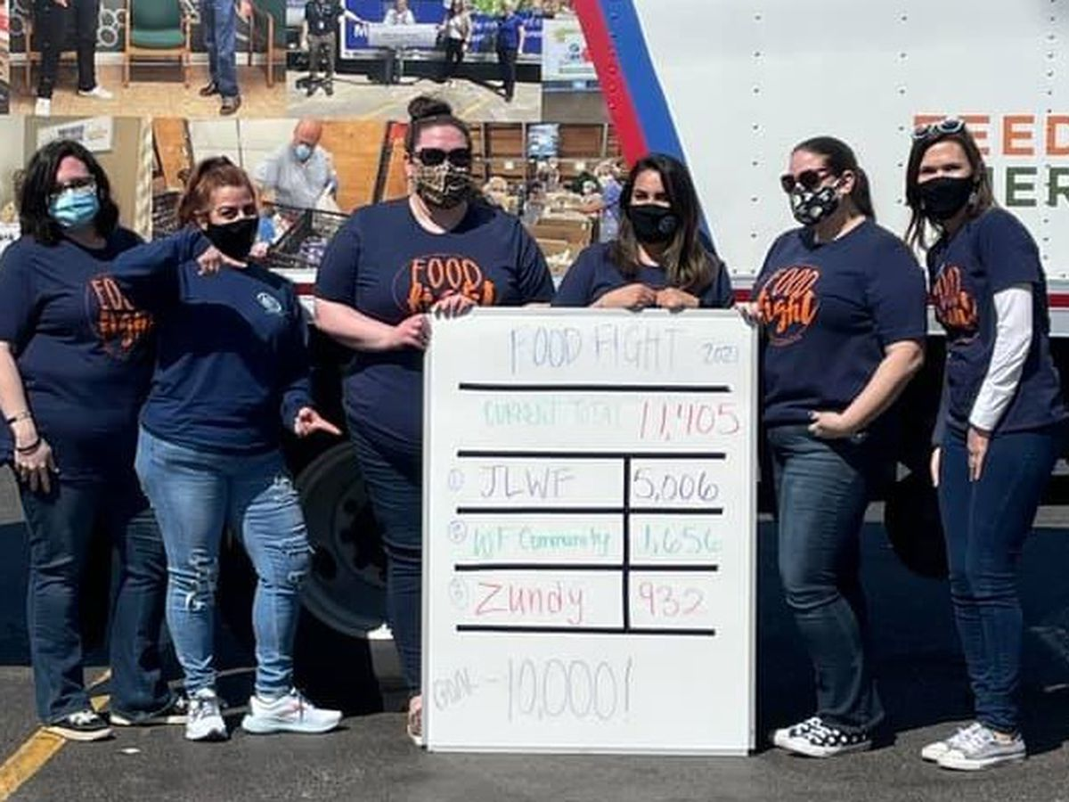 "Junior League ""food fight"" event brings in over 11K pounds of food"