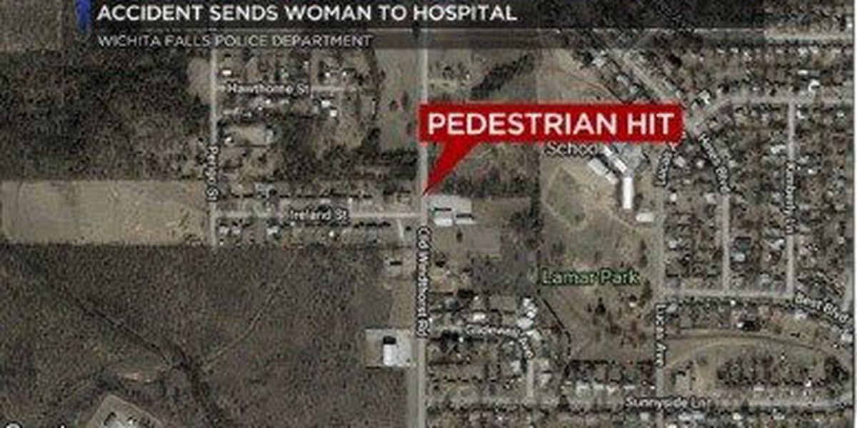 Pedestrian accident sends woman to hospital
