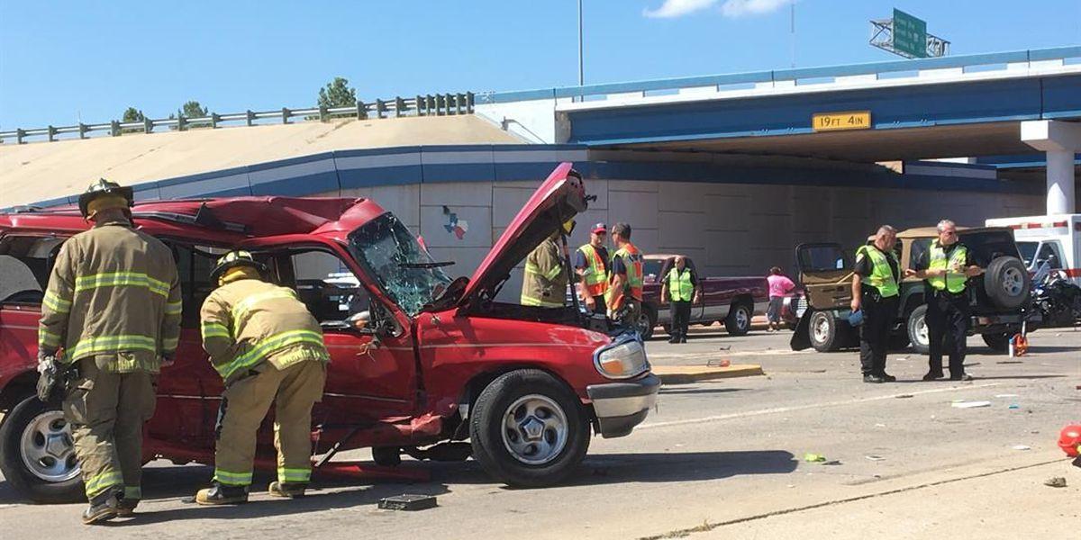 Crash sends three to emergency room