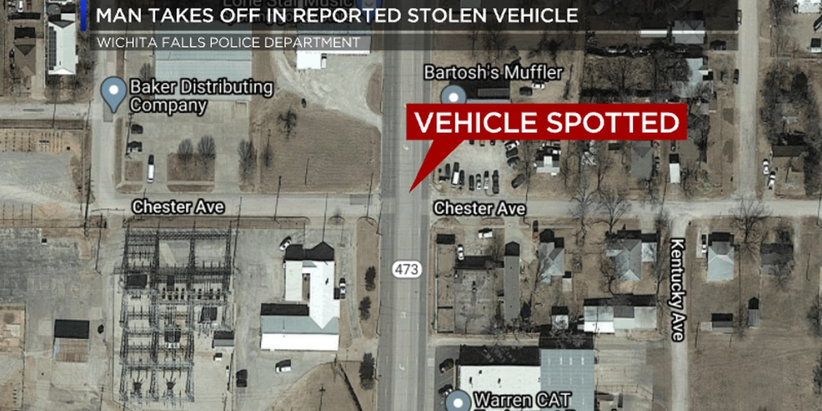 Police say man flees in a vehicle reported stolen