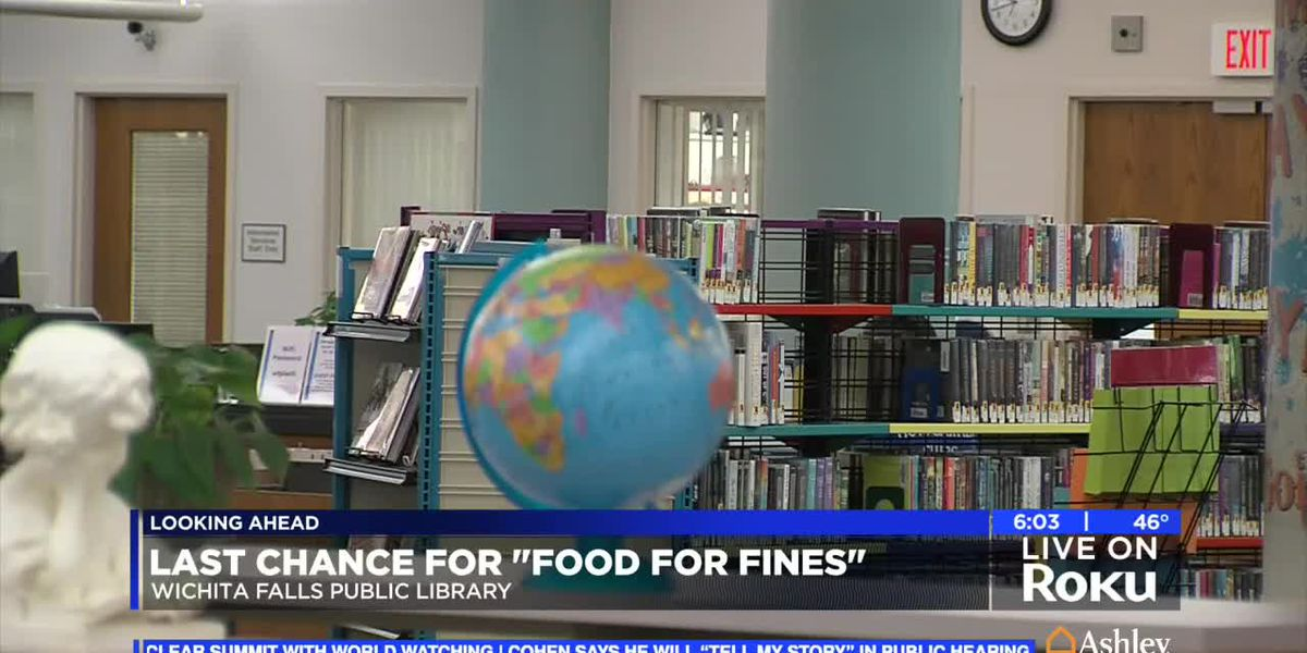 Time running out to pay for library fines with canned goods