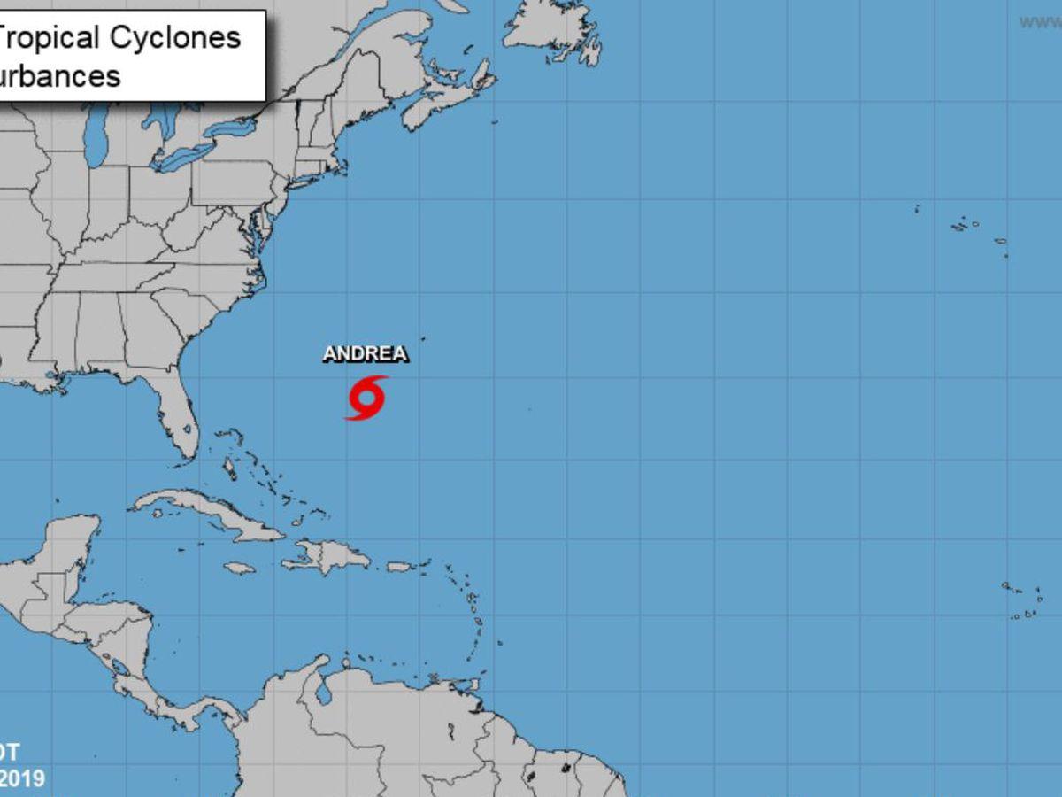 Andrea is 1st named storm of Atlantic season