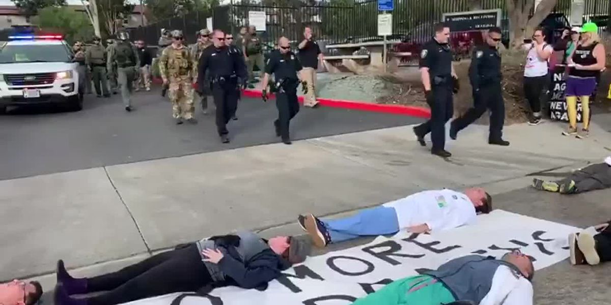 RAW: 6 arrested after denial of doctors' request to provide flu shots to migrant children
