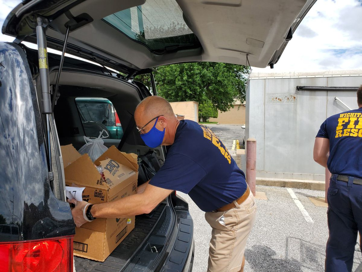 WF Fire Department helps Meals on Wheels