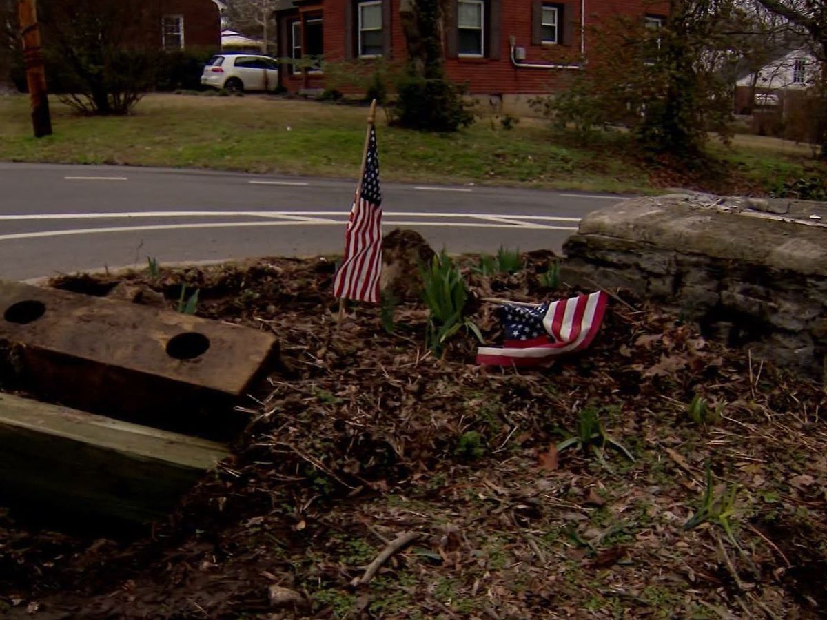 Speeding driver damages nearly 90-year-old veterans memorial in Tennessee, neighbors say