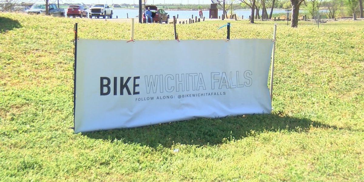 People bring out their wheels for Ride and Seek at Lake Wichita
