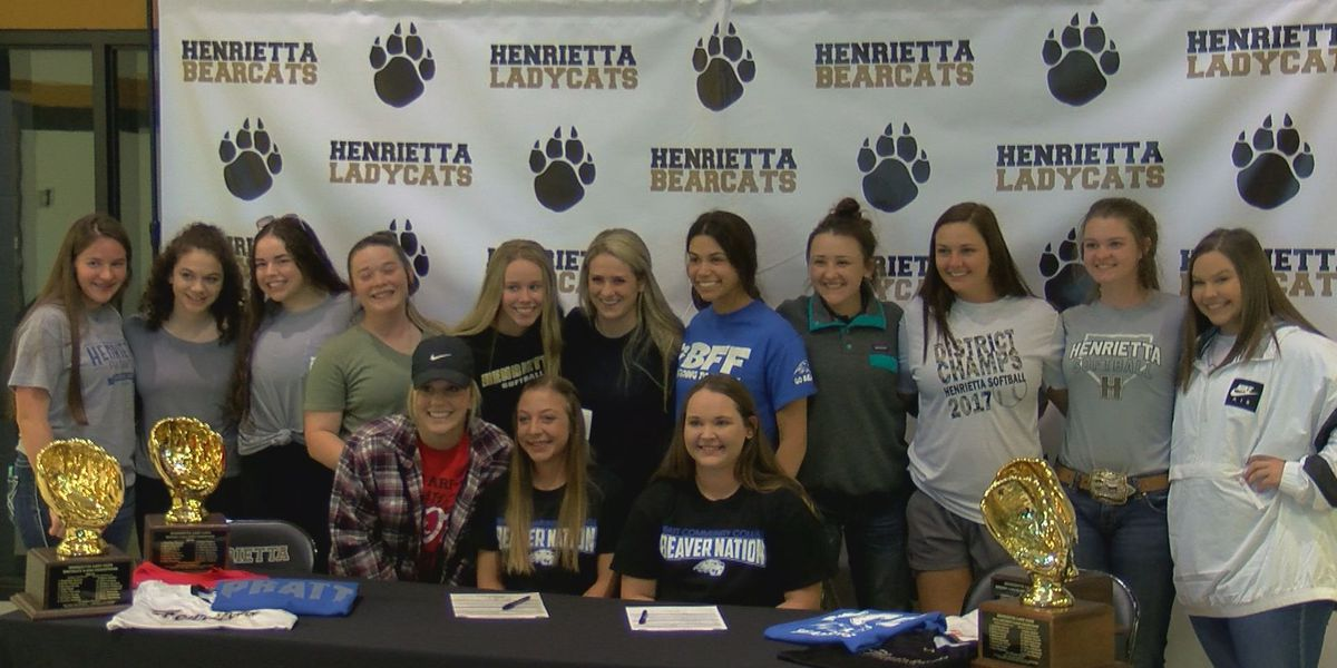 Two Ladycats sign college letters, dugout volume leading Henrietta into district