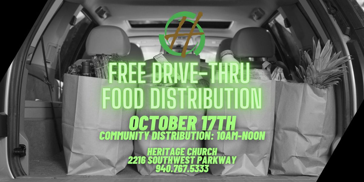Heritage Church to host drive-thru food distribution Saturday