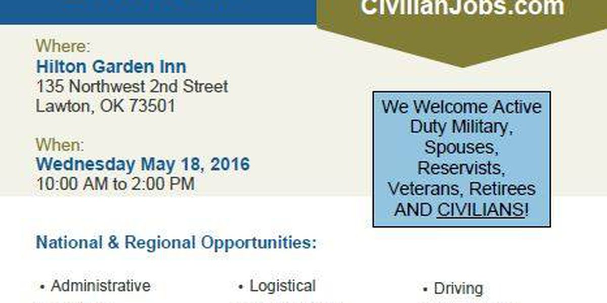 Military Job Fair to be held in Lawton