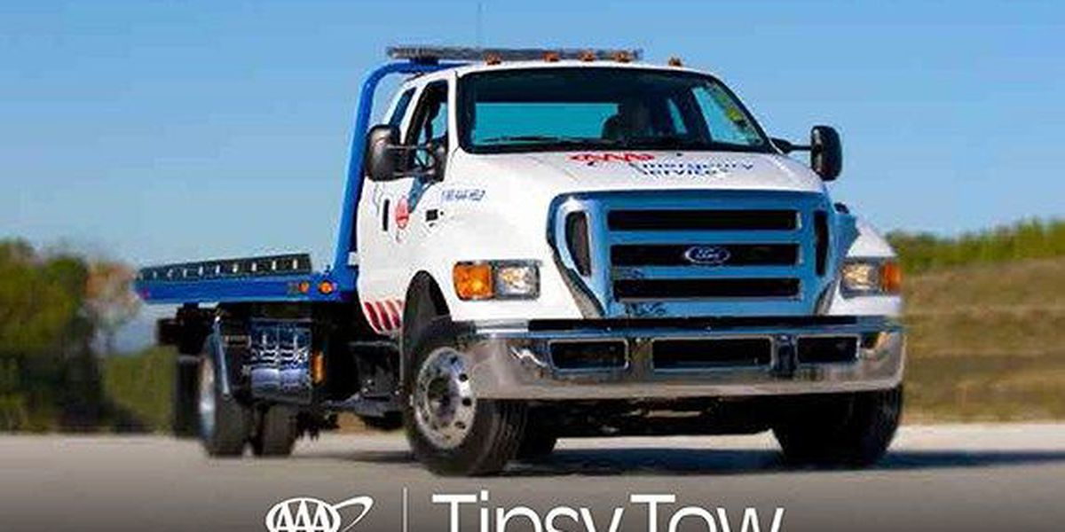 AAA offering tipsy tow service for intoxicated drivers