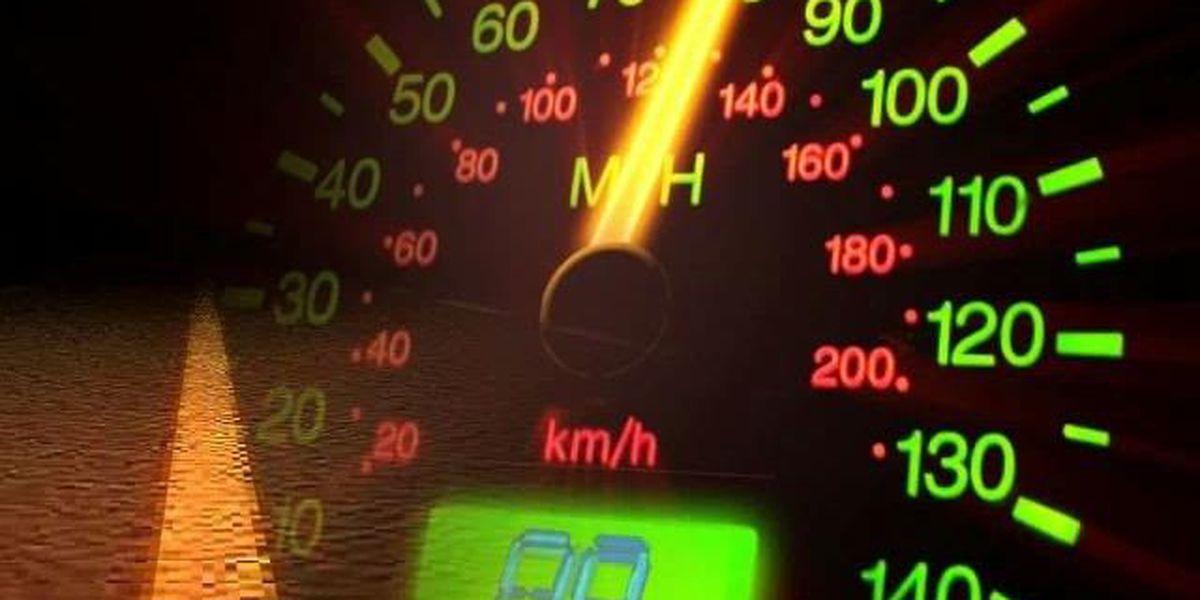 Speed limit reduced near Harrold Truck Stop