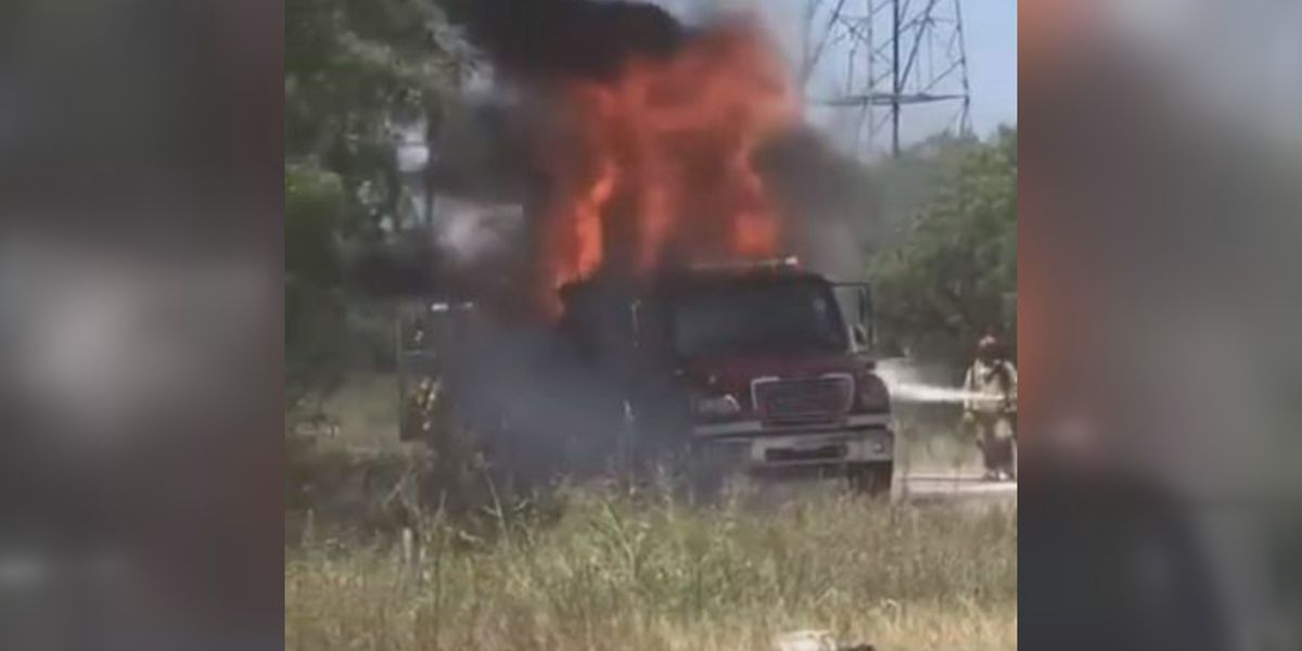 Texas department's new $350K firetruck burns, brakes checked
