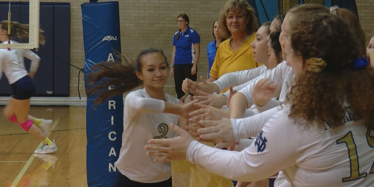 Lady Knights advance in TAPPS playoffs with dominating win