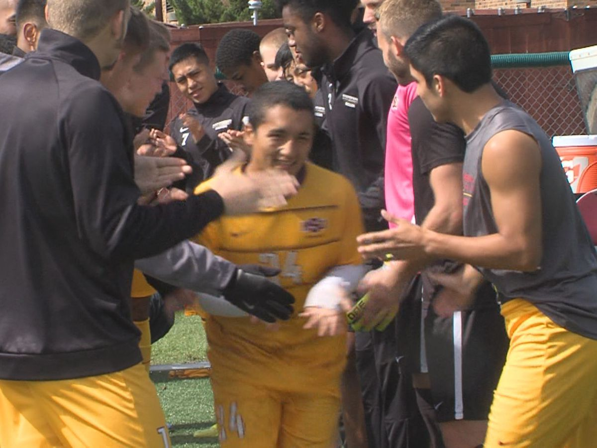 #3 Midwestern State men's soccer unbeaten run snapped by WT golden goal