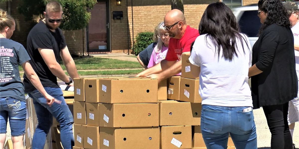 First Assembly of God receives 1,200 boxes of food to donate