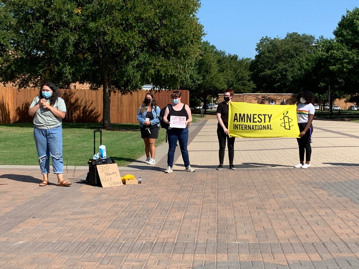Breonna Taylor rally at MSU Texas Thursday afternoon