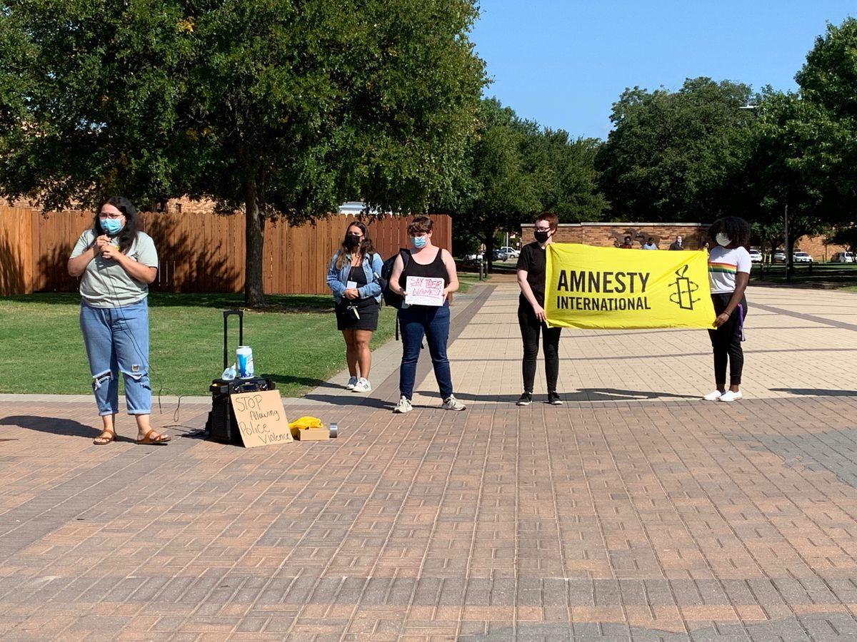 Breonna Taylor rally at MSU Texas Thursday afternoon