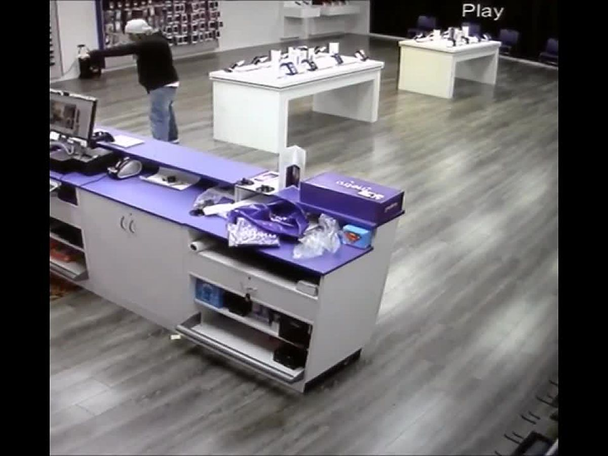 WFPD release surveillance footage of Metro PCS armed robbery