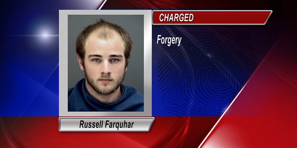 A Forged Check Leads To An Arrest