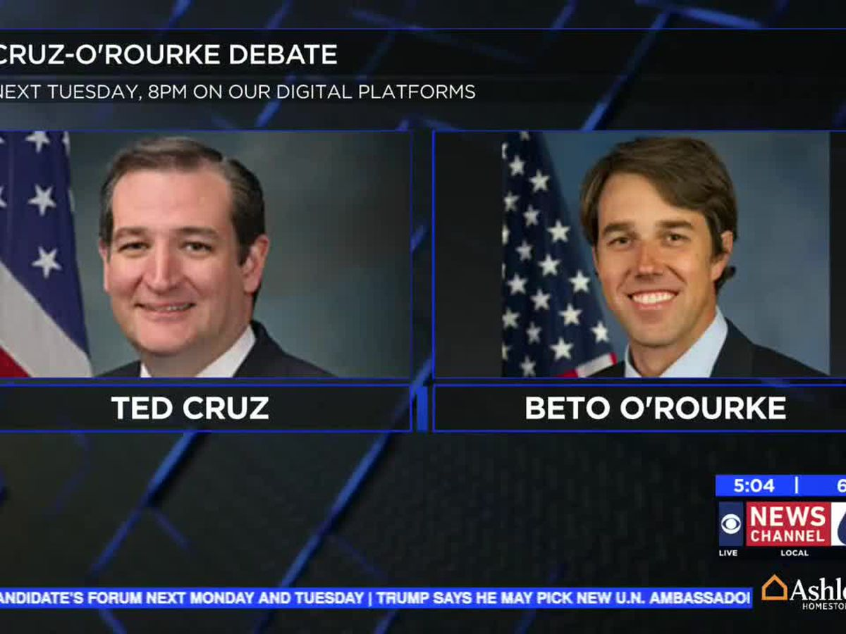 Watch Live: Cruz, O'Rourke to faceoff in debate Tuesday night