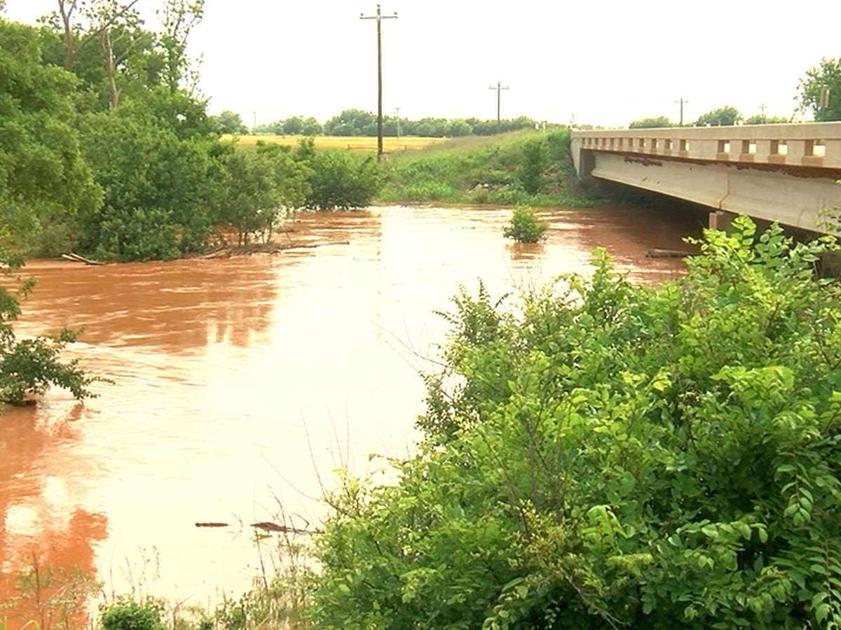 Beaver Creek near Electra floods surrounding areas