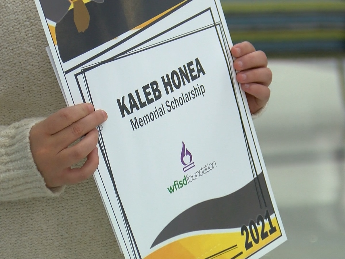 """Kaleb gets to live on through that;"" late Rider HS student's legacy lives on through memorial scholarship"